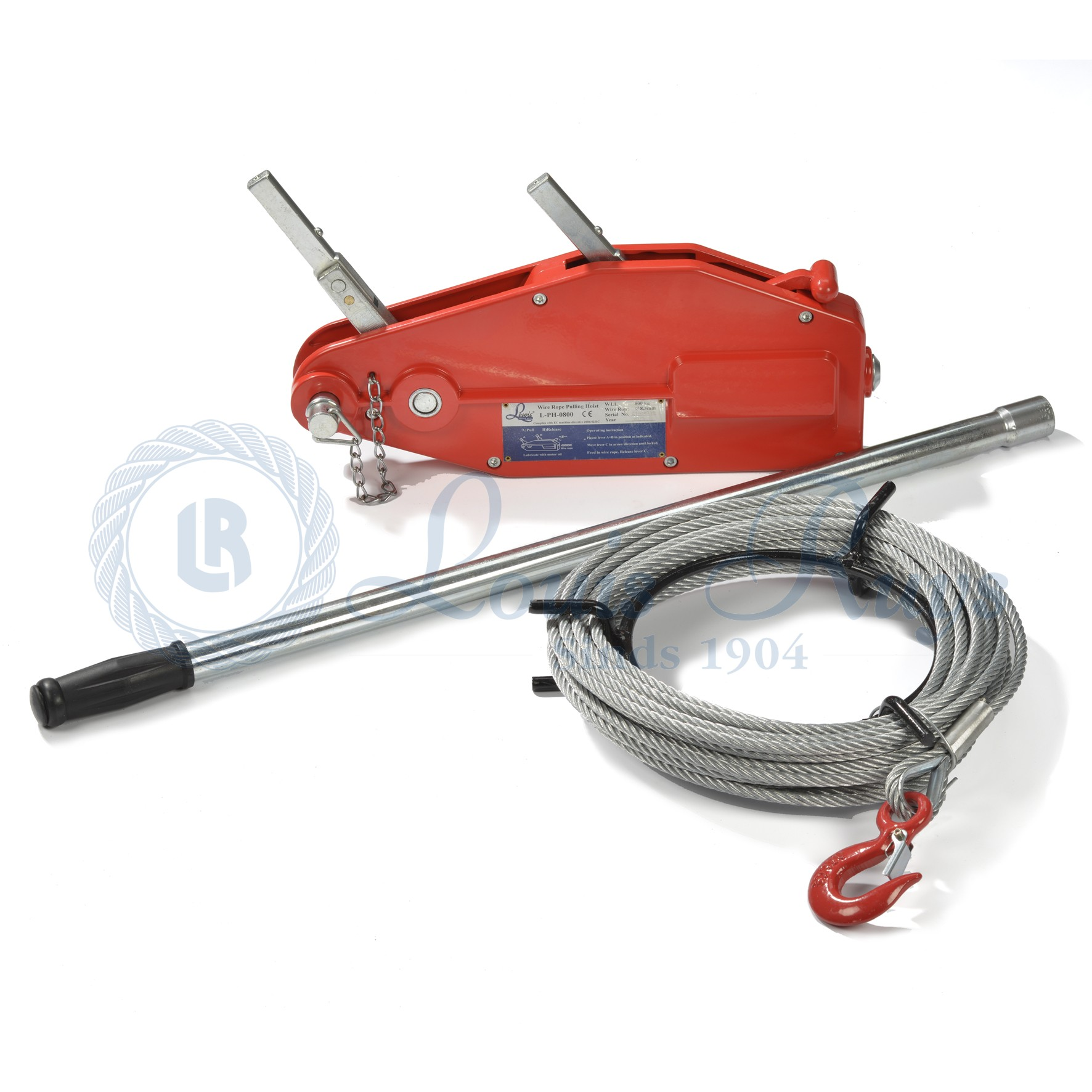 Lewis wire rope pulling hoists - Louis Ruys