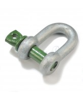 Green Pin standard dee shackles / screw collar pin