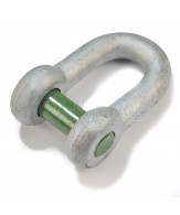 Green Pin dee shackles / square sunken hole pin