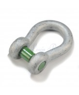 Green Pin bow shackles / square sunken hole pin