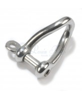 Stainless dee shackles / twisted