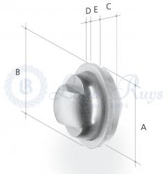 Threaded ball bearing disc