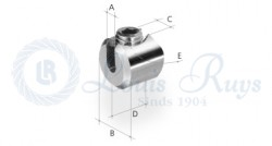 Slotted clamping button / for round profiles