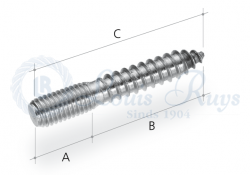 Dowel screws with thread