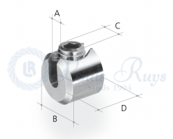 Slotted clamping button