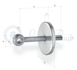 Ring bolt with supporting disc