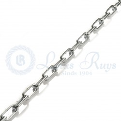 Electro galvanised chain / long link