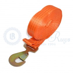 Webbing strap with hook
