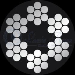 PVC 6x7+1 stainless